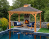 portable garden wooden gazebo for sale