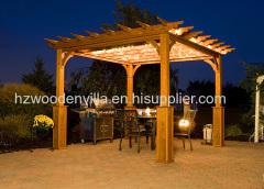 new design wooden pergola in europe style