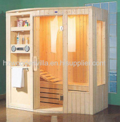 traditional wooden sauna room
