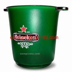SEDEX factory supply top quality transparent custom ice bucket for beer