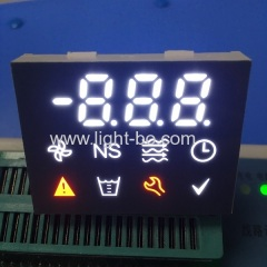 Custom design enhanced background multicolor 7 segment led display with blue led backlight