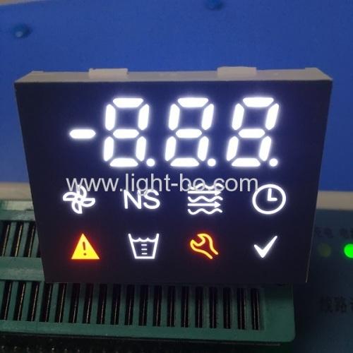 индивидуальный улучшенный фон многоцветный 7-сегментный светодиодный дисплей с синей светодиодной подсветкой
