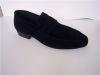 Suede mens casual shoes black