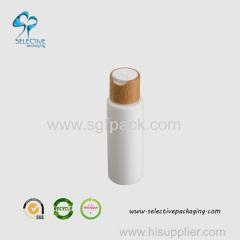 100ml PE white bottle bamboo cosmetics packaging