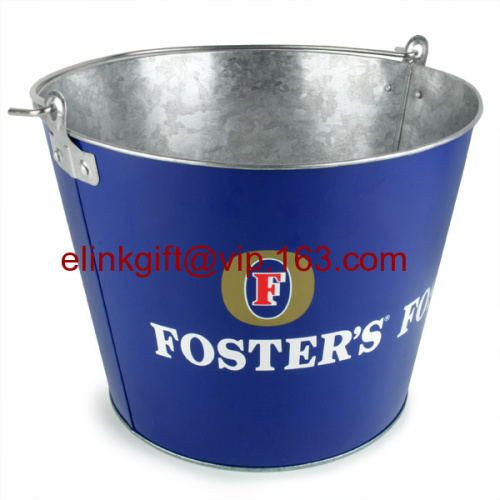 cheap price metal ice bucket tin bucket with bottle opener