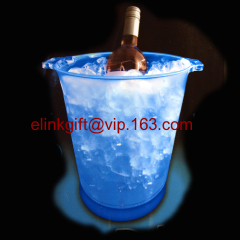 cheap price plastic LED ice bucket for beer