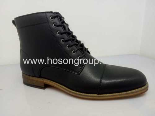 Mens lace office ankle boots