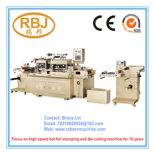 Automatic Roll to Roll / Roll to Sheet / Label Die Cutting Machine with Hot Stamping