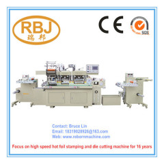 Hot Stamping Foil Creasing Label Die Cutting Machine