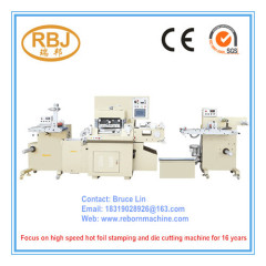 High Speed Hot Foil Stamping Die Cutting Machine with Slitting Function