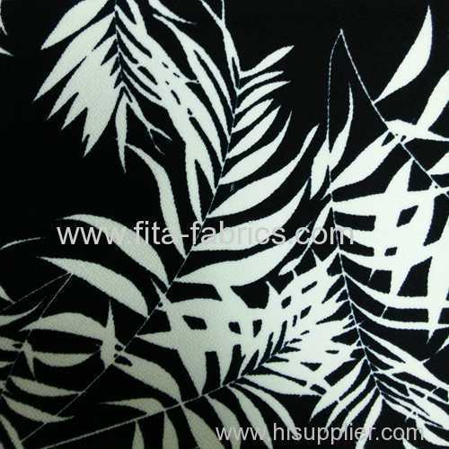 100% polyester bubble crepe print fabric
