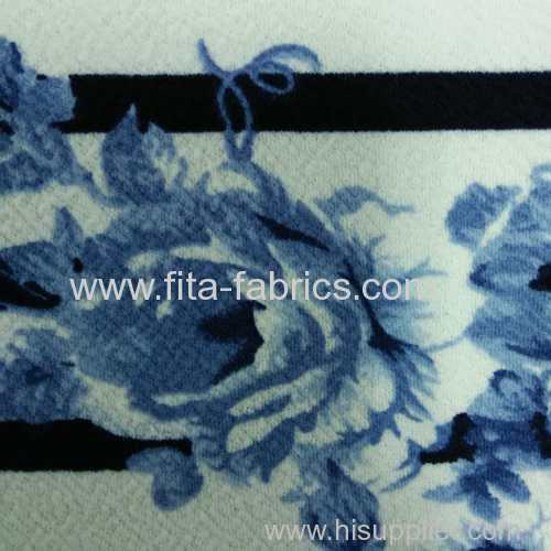 bubble crepe print fabric
