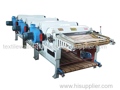 China three roller textile waste recycling machine for spinning mills