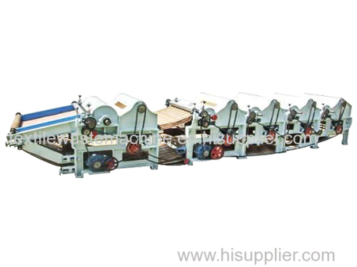 China supplier six roller cotton waste recycling machine
