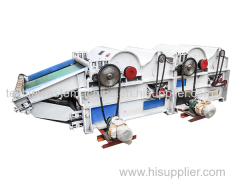 Double rollers textile waste opening machine