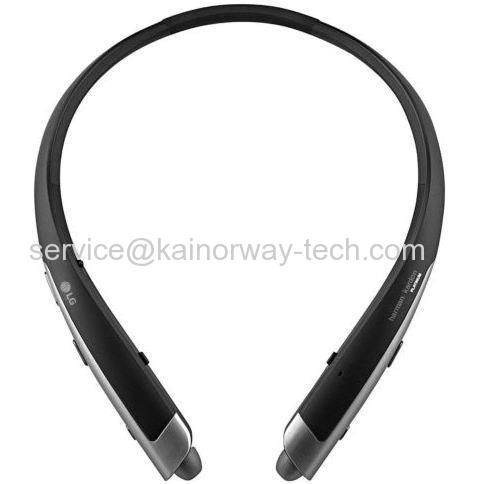Black LG TONE Platinum HBS-1100 Bluetooth Wireless Stereo In-Ear Canal Headphones Harman Kardon