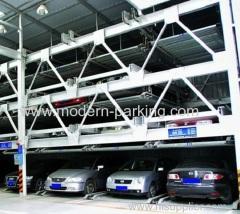 Système de stationnement mécanique automatisé à quatre couches