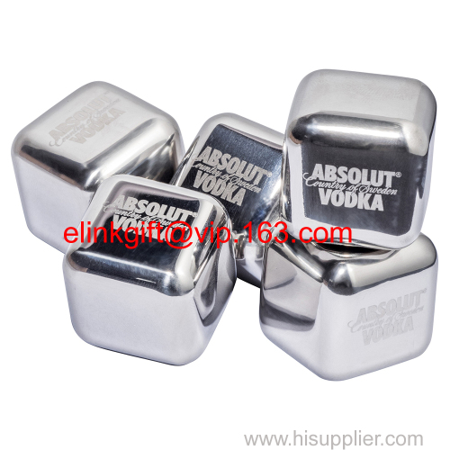professional bar tooling stainless steel ice cubes whiskey stones