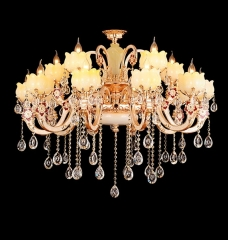 Lotus Modern Design Larger Crystal Chandelier Lighing