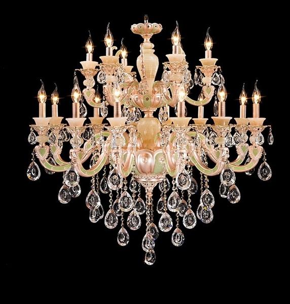 Mordern design Colorful Larger Crystal indoor ceramics lighting