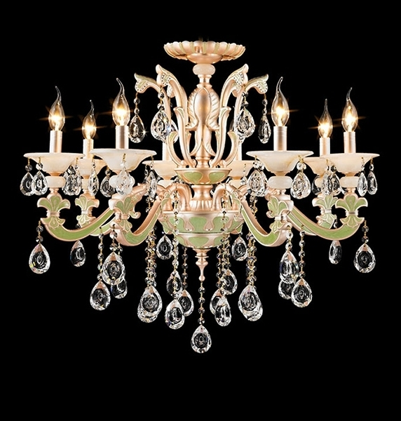 Mordern design Verdancy Larger Crystal indoor ceramics lighting