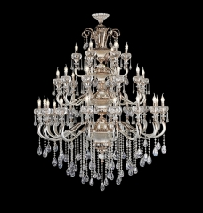 Pure White Modern Design Larger Crystal Chandelier Lighting