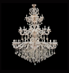 Multi Layer Modern Candle Design Crystal Chandelier Lighting