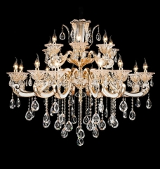 Floral Modern Design Larger Crystal Chandelier Lighting