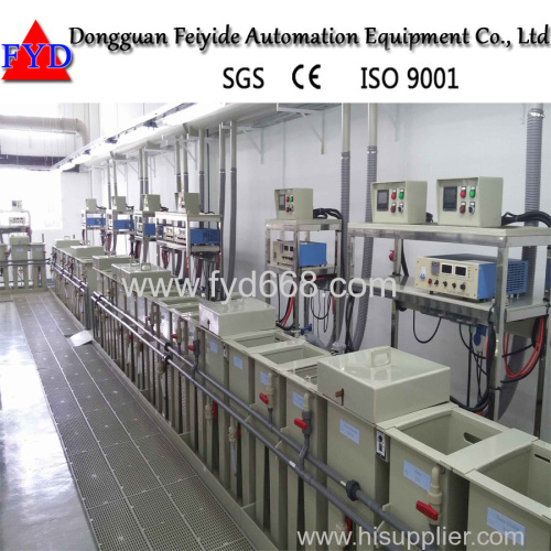 Feiyide Plating Machine Jewellery Coating Line for Gold Nickel Electroplating