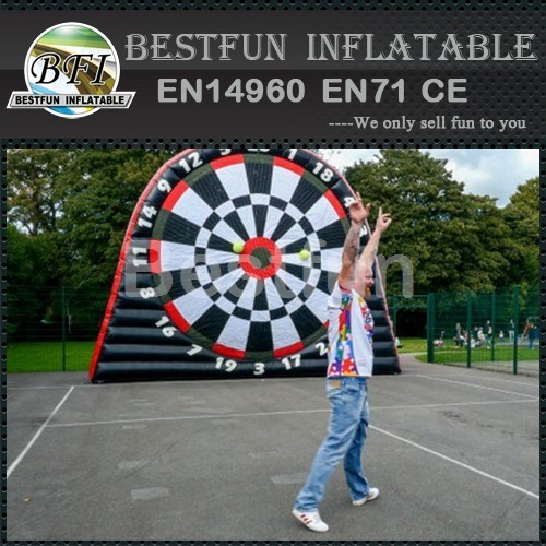 Inflatable foot darts board for sale