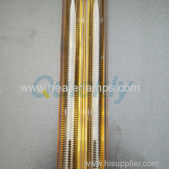 240v 2000w gold coating medium wave quartz heater