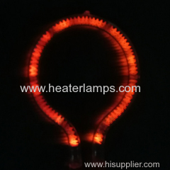 High purity quartz tube infrared light lamp heater
