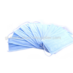 Disposable face mask for dust