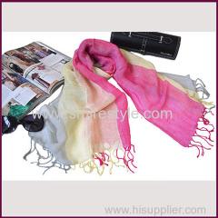 Multicolor Ladies Fashionable Shawls Unisex Cotton and Linen Scarf