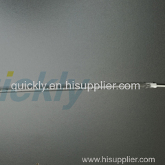 Halogen quartz infrared emitter with metal terminal