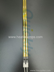 half golden reflector quartz heating tube