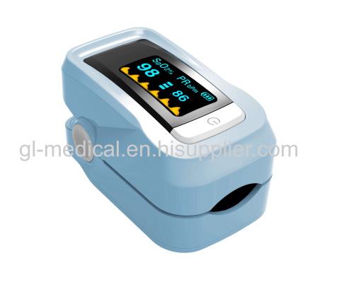 Digital fingertip pulse oximeter with six display type