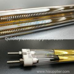 Double heating element with quartz tube