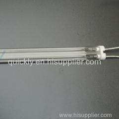 Twin tube quartz IR emitter with white coating