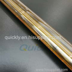 Quartz infrared emitter with gold reflector