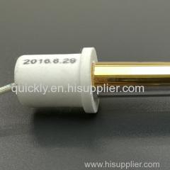 Round ceramic end cap quartz heater tube