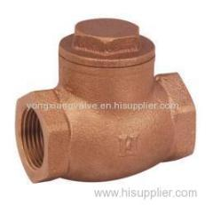 THREADED BRONZE CHECK VALVE