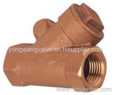 BRONZE Y-TYPE CHECK VALVE