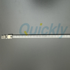 single quartz tube heater lamps with white reflector
