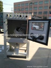 Sand blasting machine for metal work piece burring