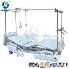 Hospital Furniture Double Column Multifunctional Electric Orthopedics Traction Bed With Central Locking