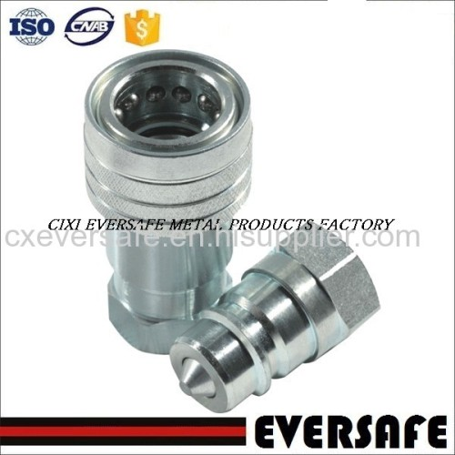 Carbon Steel Hydraulic Quick Release Coupling ISO 7241-A intnerchange