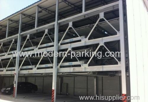 Automatic lift-sliding parking system