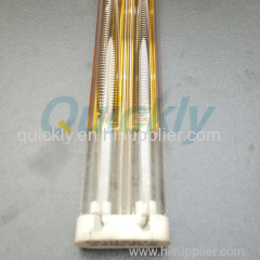 3080mm medium wave infrared heater with gold coating