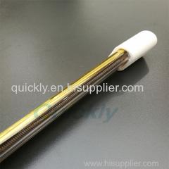 White end base medium wave IR heater